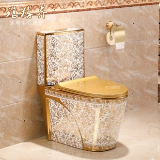 Toilet sanitary toilets siphon type household implement water - saving she mantra missile down ceramic Toilet