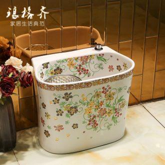 Large wash mop pool of jingdezhen ceramic mop pool terrace pool palmer mop pool mop basin bathroom home