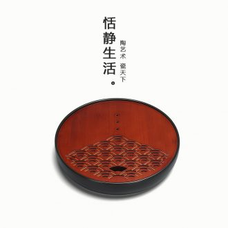Quiet life creative carbonized bamboo household water storage ground embedded circular dry bubble taichung ceramic restoring ancient ways