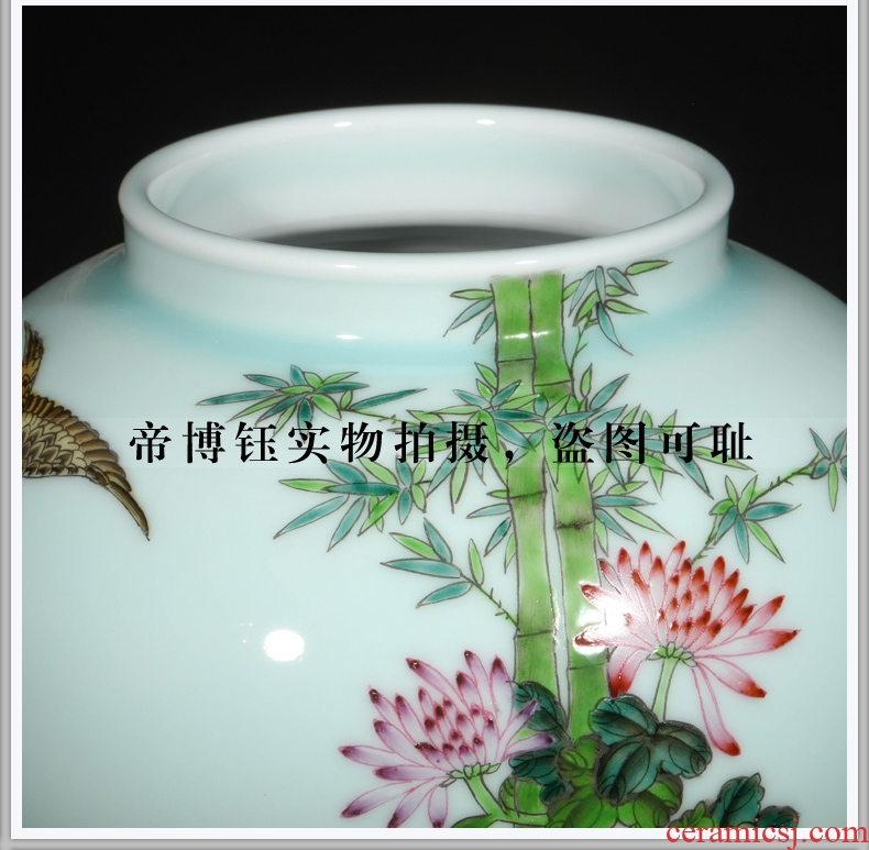 Chinese vase floral inserted dried flower implement hotel villa large landing, the sitting room porch household ceramics restoring ancient ways furnishing articles - 567207731077