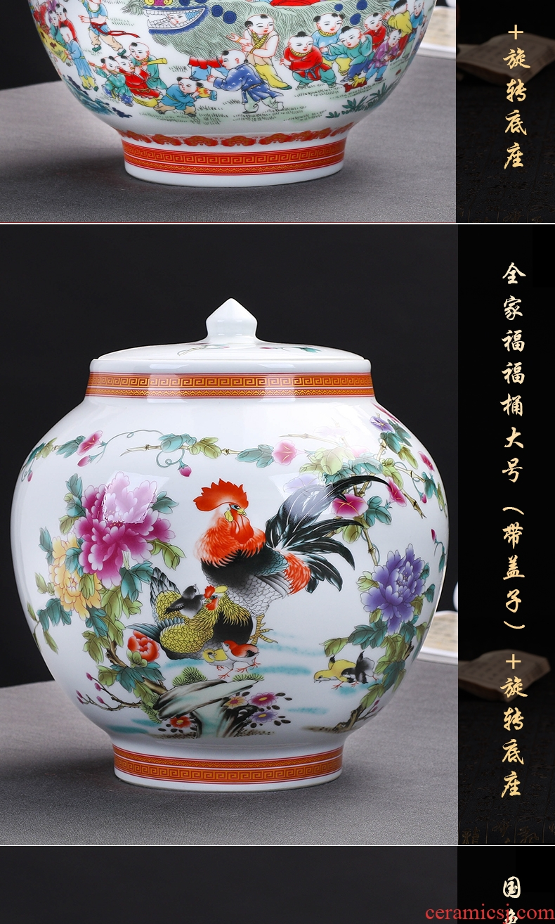 Key-2 Luxury European - style sitting room of large vase furnishing articles ceramic household adornment high dry flower arranging flowers large TV ark - 570451101191