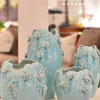 European ceramics high ground vases, flower arrangement sitting room place dry flower vase household adornment the French TV ark - 525204938038