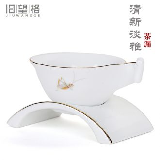 Old &, kung fu tea accessories ceramics) creative and fresh tea stainless steel wire mesh filter filter tea strainer
