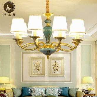 Any lift to American sitting room towns all copper chandelier contracted bedroom restaurant ceramic compound floor villa copper lamp light atmosphere