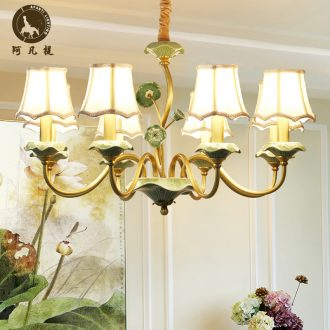 American rural droplight ceramic all copper lamp contracted and I sitting room light creative move restaurant bedroom lighting lamps and lanterns