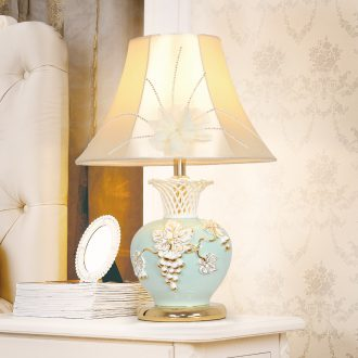Ceramic lamp LED lamp of bedroom the head of a bed creative contracted sitting room decorate the study move T239 warm light lamp