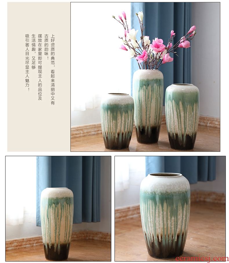 Jingdezhen of large vases, the sitting room porch place, Chinese style white flower flower implement hotel ceramic decoration