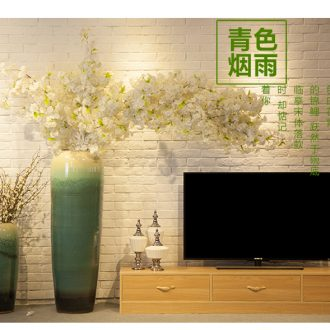 Large landing restoring ancient ways of jingdezhen ceramic vase floral outraged sitting room place dry flower art flower arranging new Chinese style white - 552281065024