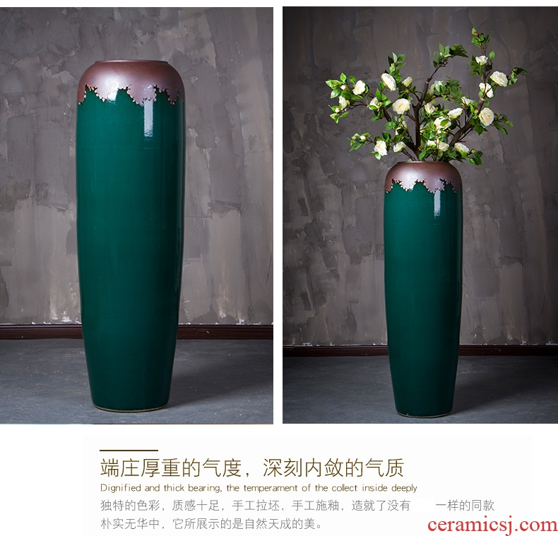 Jingdezhen ceramics vase of large hotel version into Chinese flower arranging sitting room adornment is placed - 564472443913