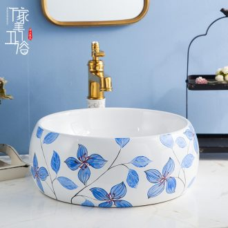 The stage basin sink The lavatory ceramic European - style bathroom art basin of The basin that wash a face