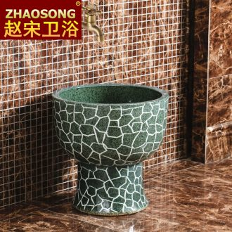 Jingdezhen large round mop pool one mop pool european-style balcony mop pool to wash cloth mop basin outdoor pool