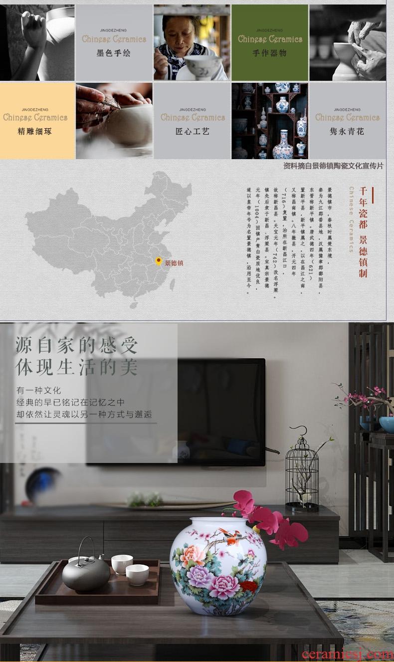 Imitation of classical jingdezhen ceramics celadon art big vase retro ears dry flower vase creative furnishing articles - 563564655619