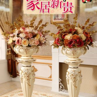 Porcelain of jingdezhen ceramics vase Chinese penjing large three - piece wine cabinet decoration plate household decoration - 569518563320