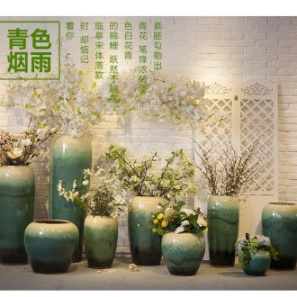Ceramic floor big dried flower vase planting sitting room place hotel villa covers coarse pottery restoring ancient ways do old creative decoration - 552375207532