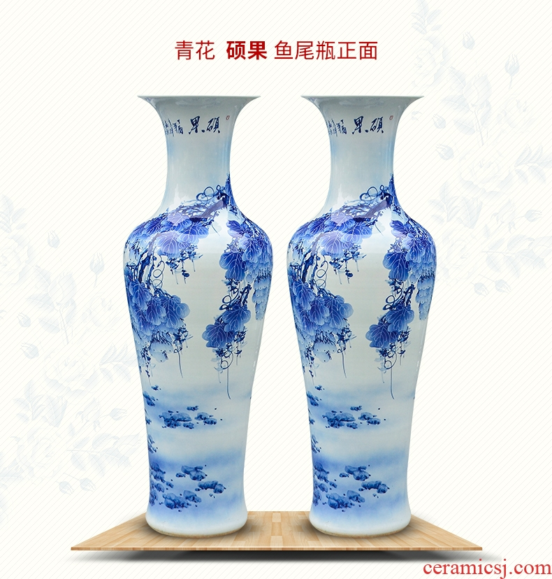 Jingdezhen of large vases, pottery and porcelain place, a large sitting room flower arranging the modern Chinese style household adornment ornament - 570302933950