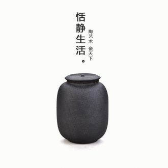 Dark quiet life zen wake receives caddy medium sealing ceramic POTS of black mountain POTS