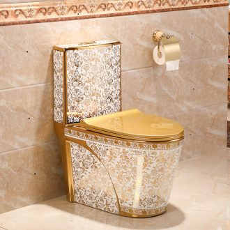 Toilet sanitary toilets siphon type household implement water-saving odor-proof slow down ceramic toilet