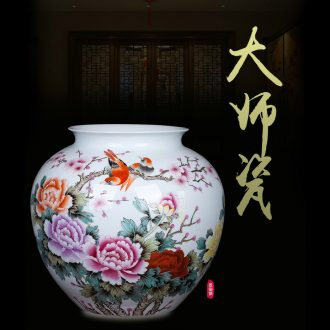 Jingdezhen ceramic Chinese painting of flowers and vase of new Chinese style to decorate sitting room ground art hotel gulp of TV ark