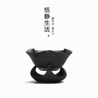 Quiet life black pottery kung fu tea set filter tap) set of set of ceramic tea tea ceremony with zero
