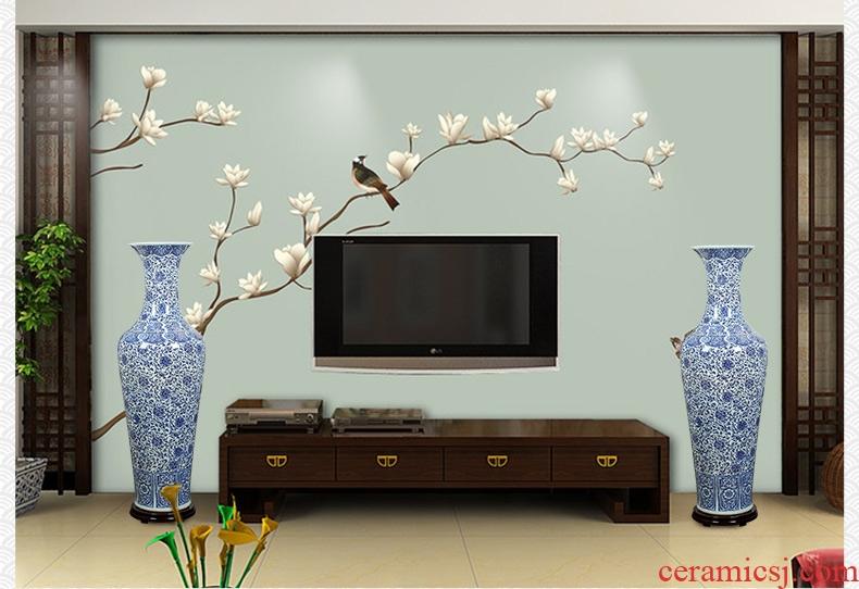 European vase furnishing articles sitting room TV cabinet dry flower arranging flowers large key-2 luxury home decoration - 568888144874 ceramic arts and crafts