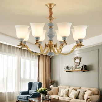 All copper pendant rural contracted sitting room lamps and lanterns creative villa key-2 luxury bedroom atmosphere restaurant ceramic chandeliers