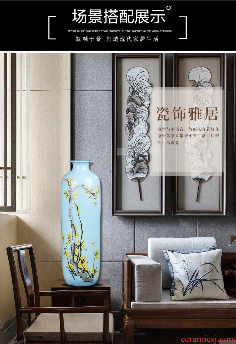 Jingdezhen ceramic floor big vase club hotel decoration flower flower implement big sitting room porch furniture furnishing articles - 552941854157