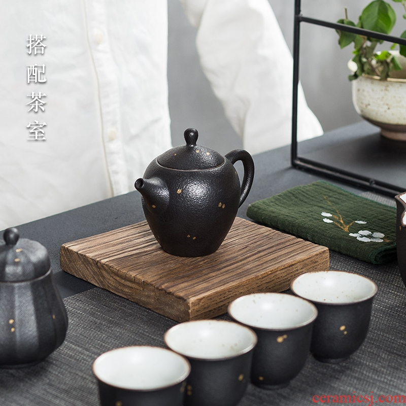 Famed creative shih tzu kung fu tea set contracted office household ceramic teapot of a complete set of tea cups