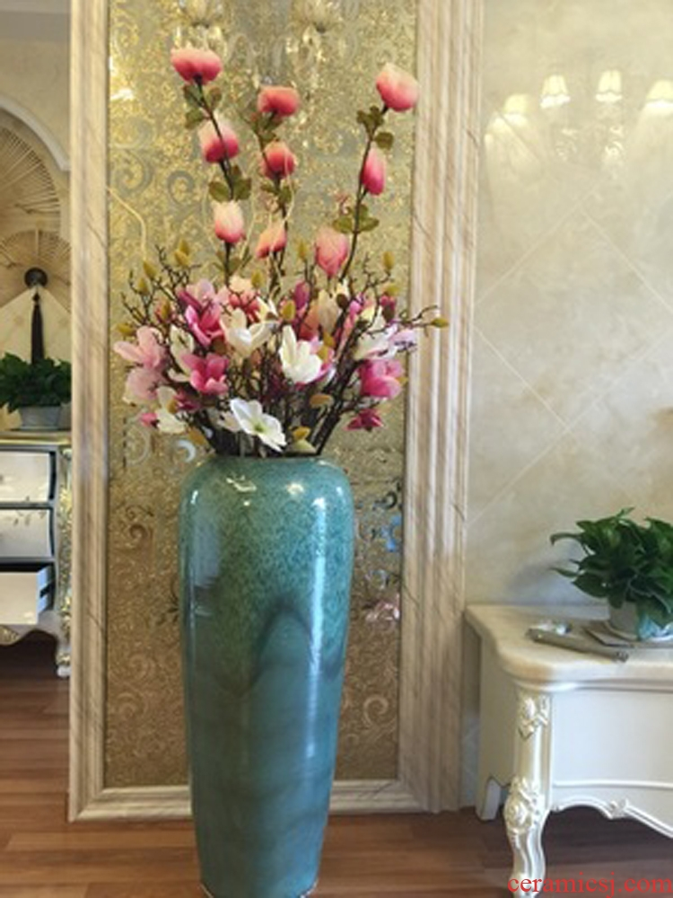 Landing a large ceramic vases, dried flower adornment place to live in the sitting room porch I and contracted Europe type creative flower arrangement - 520763486334