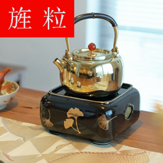 Continuous grain burn electric TaoLu warbler song home cooked tea stove desktop small iron pot of silver pot of ceramic tea pot to boil tea