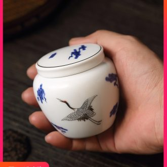 Cloud Cloud colored enamel porcelain tea pot travel small tin lid seal pot mini household storage tank kung fu tea set