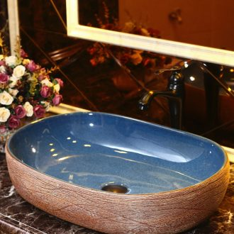 The Mediterranean ceramic household stage basin oval restoring ancient ways increasing number creative lavatory basin sink The balcony