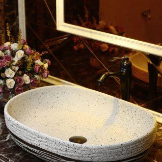Chinese style restoring ancient ways of ceramic wash basin large elliptic toilet stage basin household creative the sink basin balcony