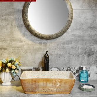Square basin of Chinese style art ceramic stage basin sink basin bathroom sinks counters are contracted household