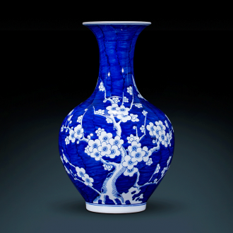New Chinese style household jingdezhen antique hand - made ceramic vase of blue and white porcelain sitting room decorates porch rich ancient frame furnishing articles