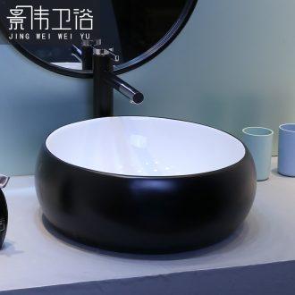 The stage basin sink ceramic lavatory toilet round art basin north European wash gargle household basin