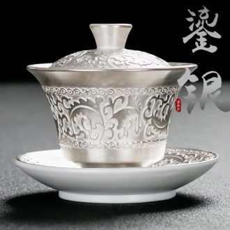 Bin, the home of kung fu tea set manually coppering. As silver tureen Japanese three teapots only ceramic tea medium cup 999 silver