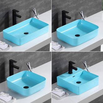 Move the Nordic stage basin square household toilet lavabo creative ceramic sinks the pool that wash a face basin