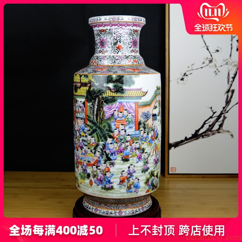 Jingdezhen ceramics, the ancient philosophers figure vase large household adornment, the ancient Chinese style living room TV ark, furnishing articles