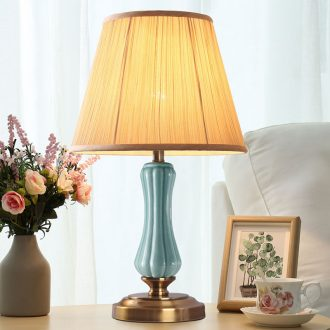 American ceramic desk lamp bedroom nightstand lamp simple move modern creative carried of remote control of household decoration