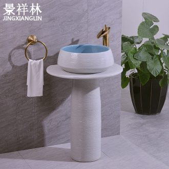 Jingdezhen ceramic two - piece contracted style restoring ancient ways the three - piece art basin sinks post suit the sink