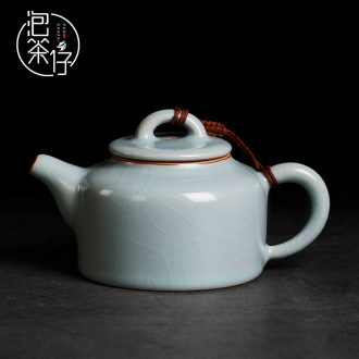 Cyan porcelain tea seed day small teapot kung fu tea set your up on single pot can keep checking ceramic