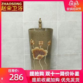 Pottery and porcelain of song dynasty one - piece pillar basin large home floor pillar lavabo lavatory is suing the toilet