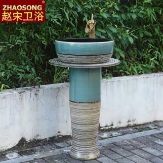 Basin of Chinese style restoring ancient ways ceramic is suing the column courtyard is suing the pool the sink Basin as floor balcony gardens