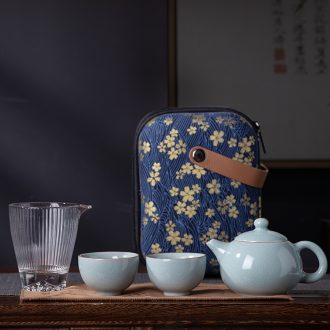 And your up portable travel tea set household of jingdezhen tea service kung fu tea set the teapot and cups of tea cups