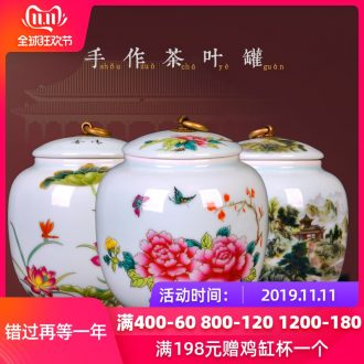 Jingdezhen ceramics round candy storage tank caddy fixings furnishing articles sitting room ark, home decoration decoration