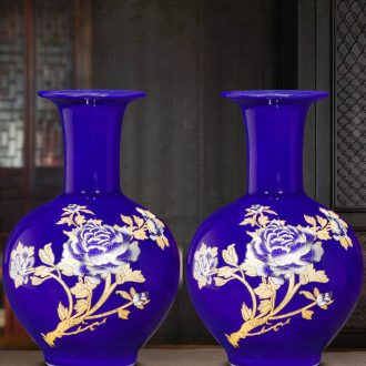 Jingdezhen ceramic dry flower vases, flower arranging Chinese porcelain home furnishing articles, the sitting room porch wine table decorations