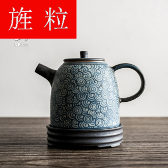 Continuous grain of restoring ancient ways of jingdezhen blue and white porcelain tea pot teapot kung fu tea set filter small clay POTS hand made kung fu tea