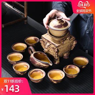 Bo yao home lazy semi - automatic prevent hot kung fu tea set creative contracted tea ware ceramic teapot teacup