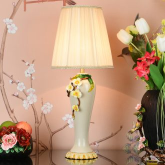 Creative colored enamel porcelain lamp sitting room key-2 luxury romantic marriage room American bedroom berth lamp adornment lamps and lanterns of restoring ancient ways