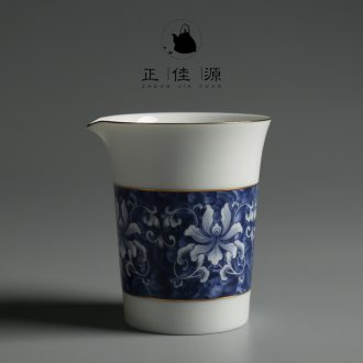 Are good source of kung fu tea accessories large blue and white porcelain tea sea ceramics fair public cup white porcelain cup home points of tea